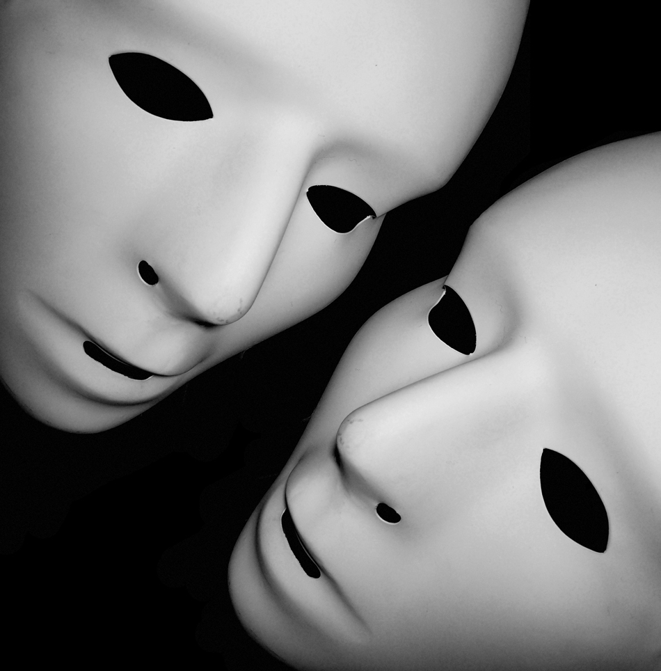 Foto zweier Masken