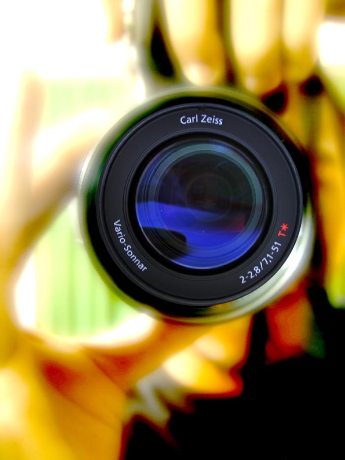 Foto einer Kameralinse
